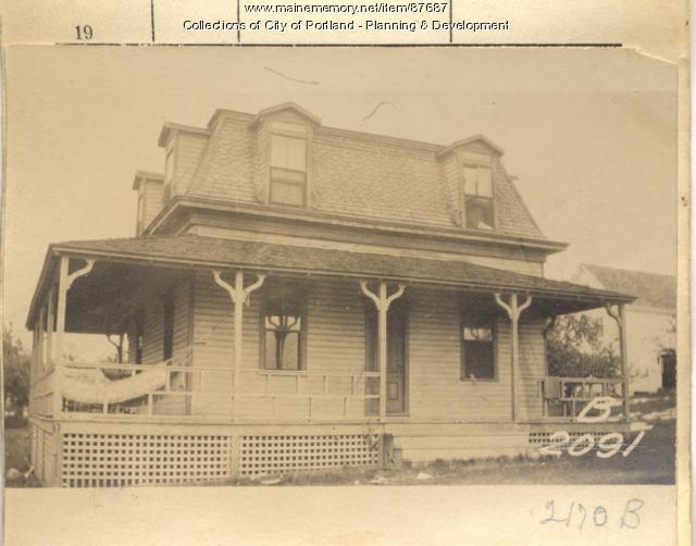 Cushing property, N. Side Island Avenue and Cushing Street, Long Island, Portland, 1924