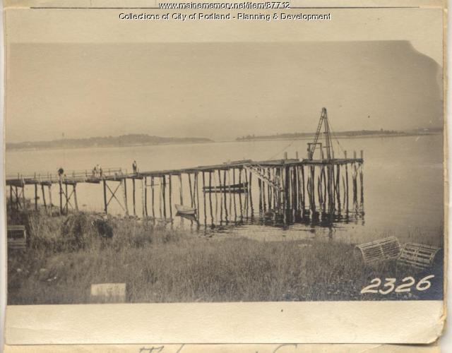Long Island Improvement Association  property, 1 Wharf Street, Long Island, Portland, 1924