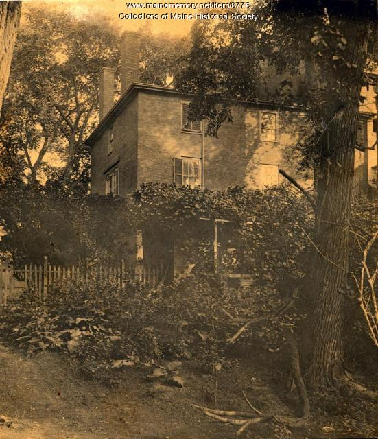 Wadsworth-Longfellow House backyard, ca. 1880