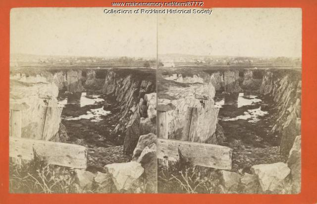 Cedar Street Quarry at Blackington's Corner, Rockland, ca. 1875