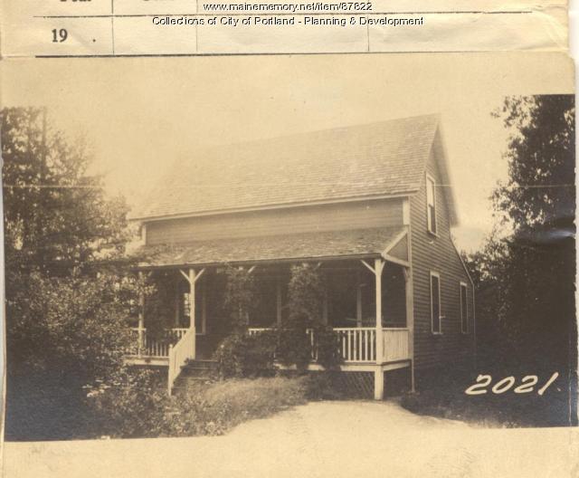 Dam property, West Side Leavitt Street, Long Island, Portland, 1924