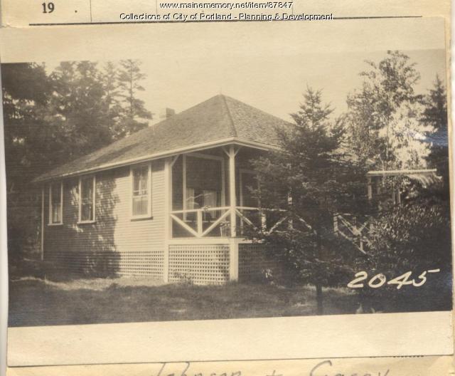 Hutchins property, Messawaskee Road, Long Island, Portland, 1924