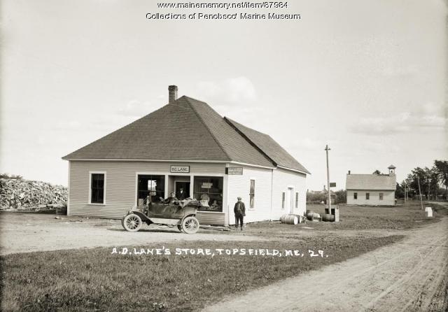 A.D. Lane's Store, Topsfield, ca. 1925