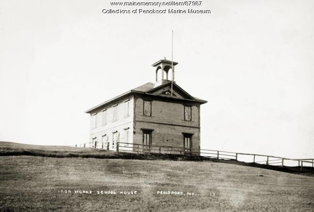 Iron Works School House, Pembroke, ca. 1910