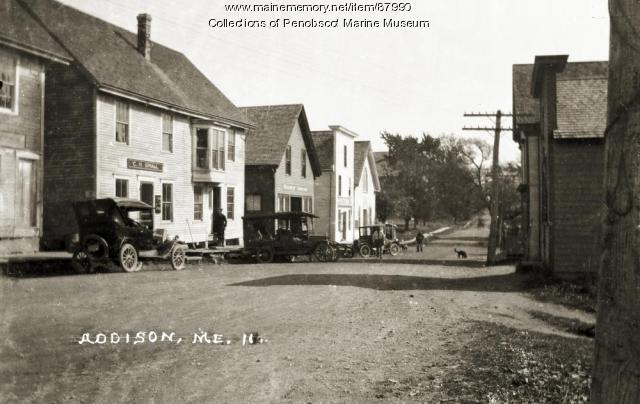 Main Street, Addison, ca. 1920