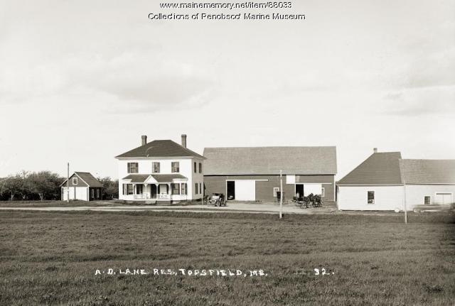 A.D. Lane Residence, Topsfield, ca. 1910