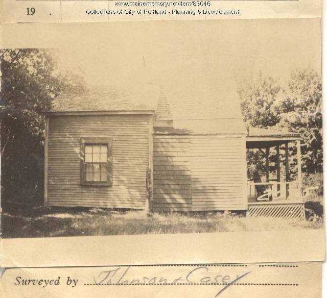 Hutchins property, S. Side Island Avenue and Woodman Street, Long Island, Portland, 1924