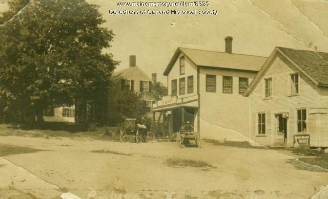 Corner of Campbell Rd, Garland, Maine, ca. 1900