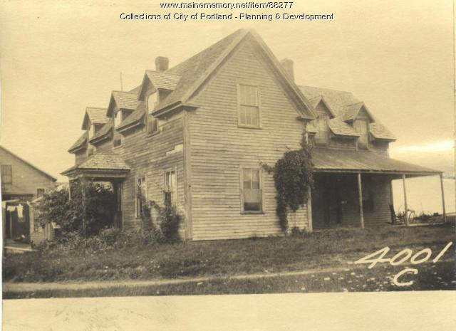 Reed property, Joseph Reed Farmhouse, Little Chebeague Island, Portland, 1924