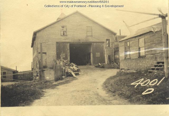Reed property, Joseph Reed Barn, Little Chebeague Island, Portland, 1924