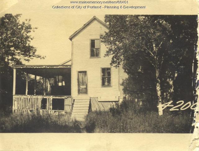 Bradshaw property, Lena Bradshaw Dwelling, Pumpkin Knob Island, Portland, 1924
