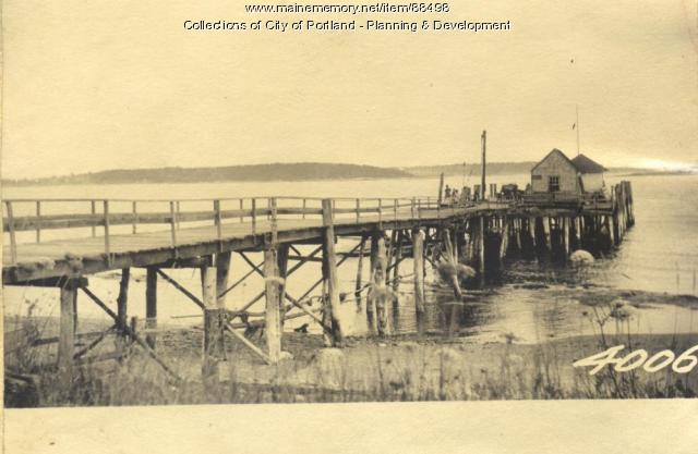 Reed property, Joseph Reed Wharf, Little Chebeague Island, Portland, 1924