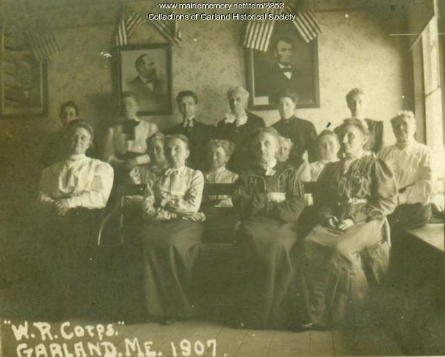 Women's Relief Corps, Garland, 1907