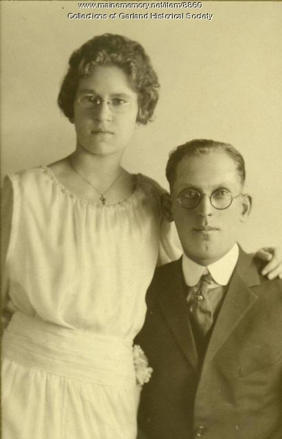 Hazel Knight and Herman Tirrell, Garland, ca. 1900