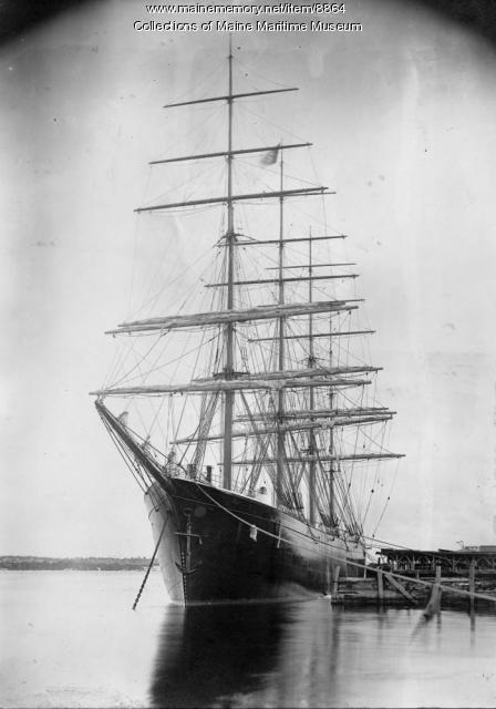 Steel four-mast bark 'Dirigo,' Bath, 1894