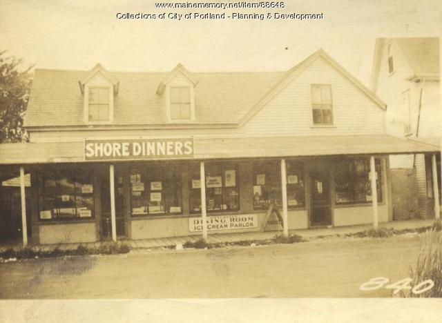 Gilbert L. Brackett Estate property, Island Avenue, Brackett Avenue, Peaks Island, Portland, 1924