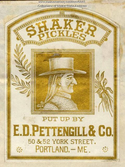 E.D. Pettengill Company Trademark for Shaker Pickles