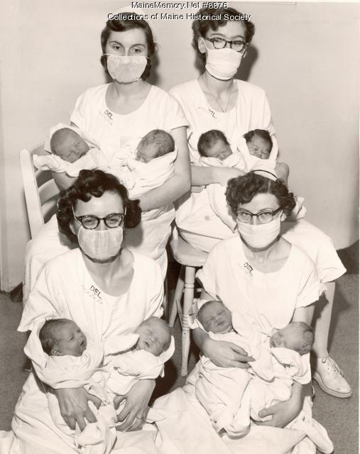 Baker's dozen at MGH, Portland, 1953