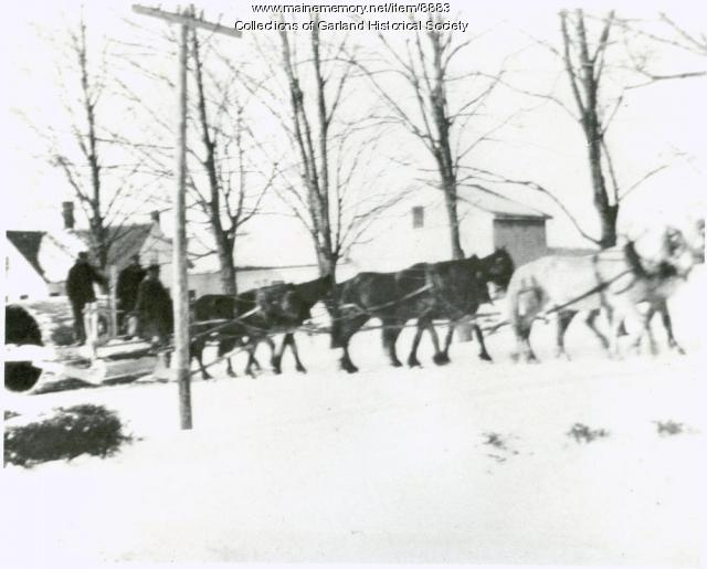 Snow roller, Garland, ca. 1915