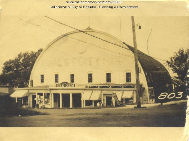 Trefethen and Gem Theatre property, Island Avenue, Peaks Island, Portland, 1924