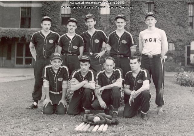 Maine General softball team, Portland, 1952