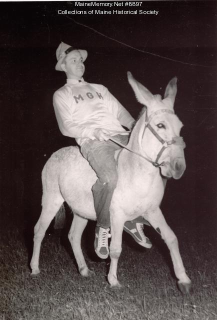 MGH donkey baseball game, Portland, 1950