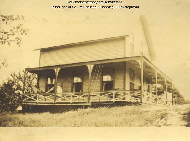 Parks property, E. side Island Avenue, rear, Peaks Island, Portland, 1924