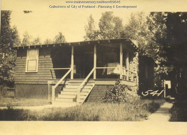 Mills property, N. Side Lyndon Avenue, Rear, Peaks Island, Portland, 1924