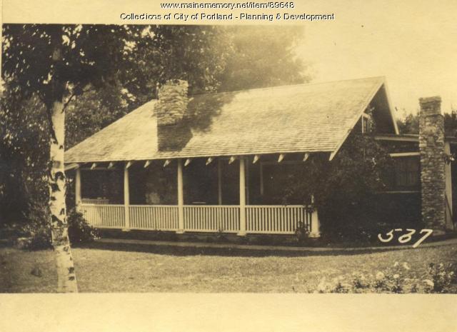 Moody property, S. Side Lyndon Avenue, Rockbound Park, Peaks Island, Portland, 1924