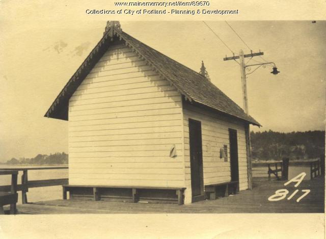 Casco Bay Wharf Company property, Evergreen Landing, Peaks Island, Portland, 1924