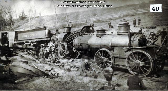 Collision at Riverside, Skowhegan, 1883