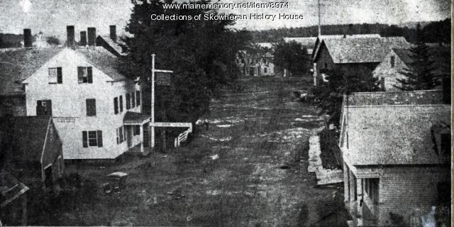 Russell Street, Skohegan, ca. 1850