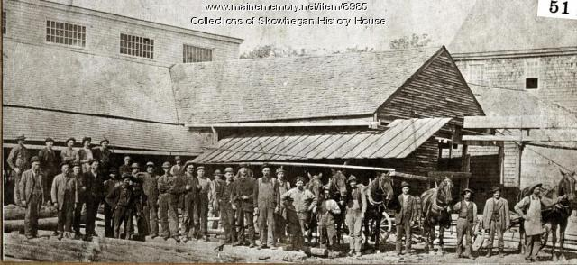 The Weston & Brainerd Sawmill, Skowhegan, ca. 1875