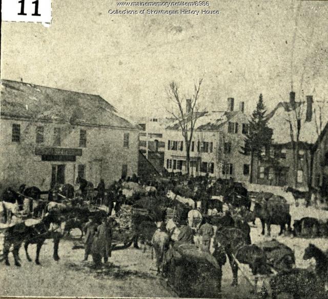 Potato Day, Skowhegan, ca. 1880