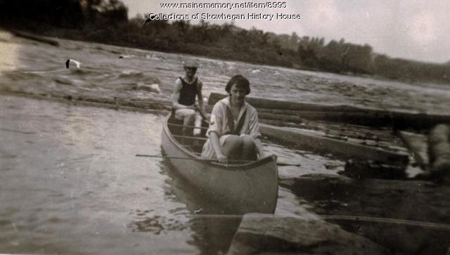 Canoeing on the Kennebec, Skowhegan, ca. 1928