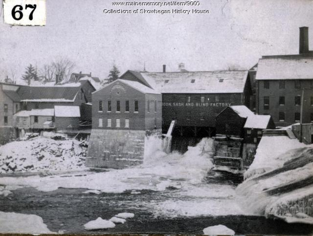 South side, Kennebec River, from Skowhegan Island, ca. 1910