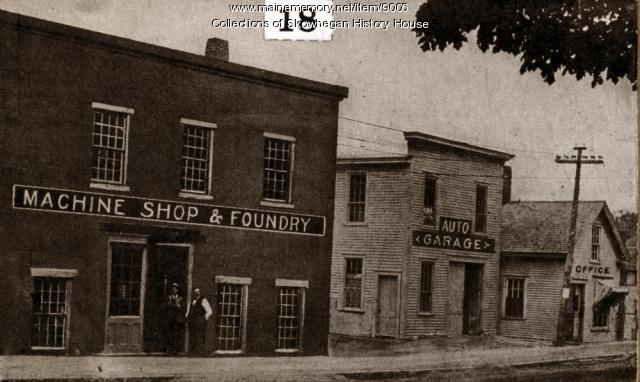 Skowhegan Foundry and Machine Shop, ca. 1900