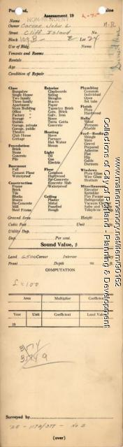Assessor's Record, Land, Sunset Road, Portland, 1924