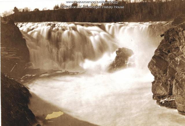 Skowhegan Falls before the dams