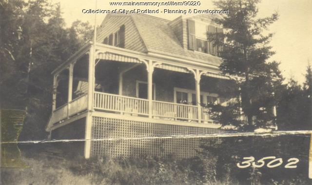 Hunter property, N. Shore, Sunset Road, Cliff Island, Portland, 1924