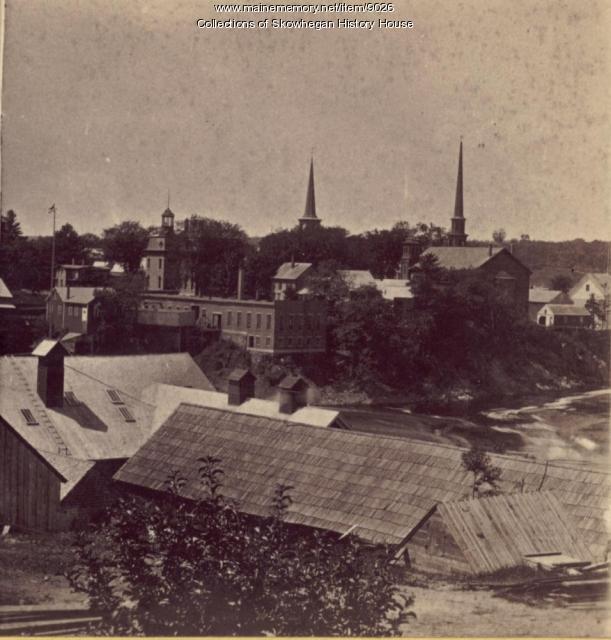 Rooftops over Skowhegan Island, ca.1875