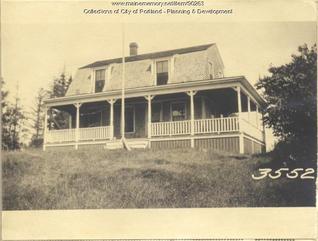 Young property, Church Road, Cliff Island, Portland, 1924