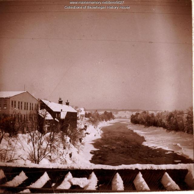 Kennebec Gorge, Skowhegan ca. 1885