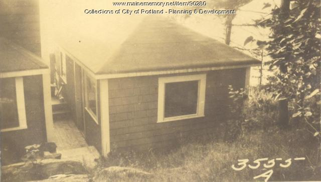 Green property, Sunset Road, Cliff Island, Portland, 1924