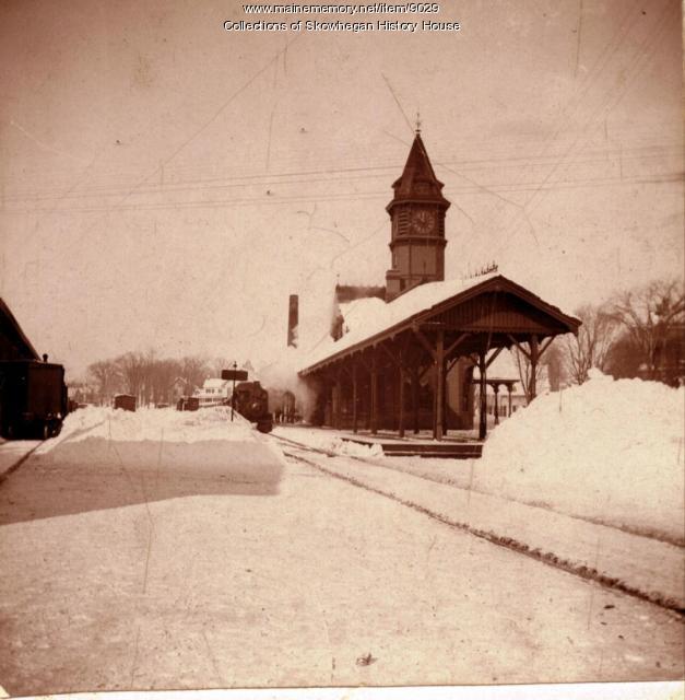 Skowhegan Railroad Station, 1895