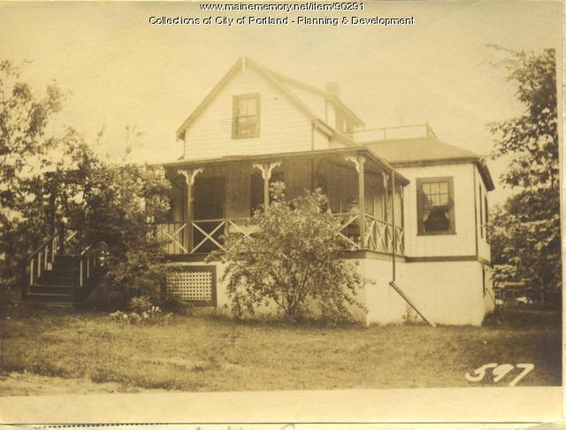 Baker property, S. Side Central Avenue, Peaks Island, Portland, 1924