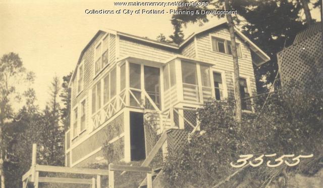 Green property, Sunset Road, Cliff Island, Portland, 1924
