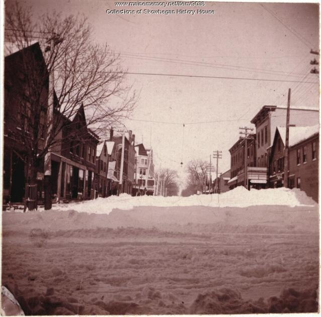Madison Avenue, Skowhegan, after the blizzard of 1895