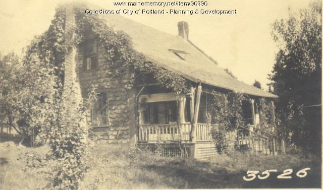 Lewis property, S. E. Side Dunham's Cove, Woodland Road, Cliff Island, Portland, 1924