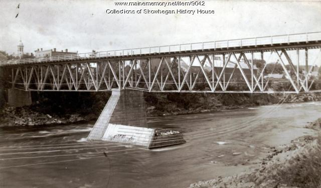Railroad Bridge, Skowhegan, ca. 1890